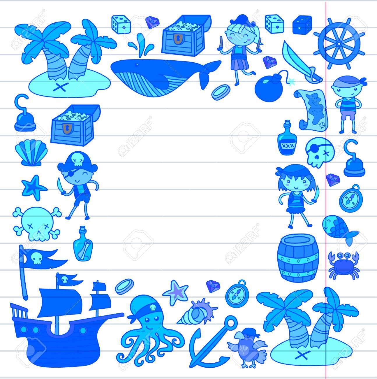 Conjunto De Icono De Princesa Y Fantasía De Doodle Yy Elemento De Diseño Para Invitación Y Tarjeta De Felicitación Niños Preescolares Dibujo Patrón
