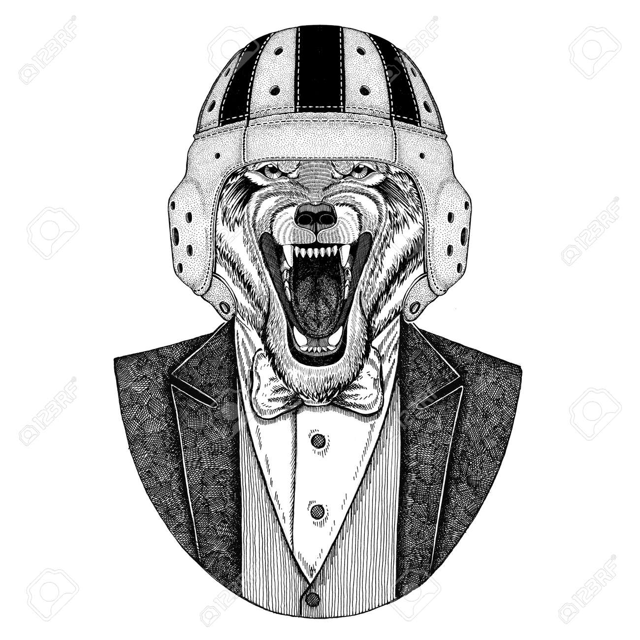 8324ec23ff5 Old school vintage rugby helmet. American football. Vintage style  illustration for tattoo, emblem, badge, logo, patch, t-shirt