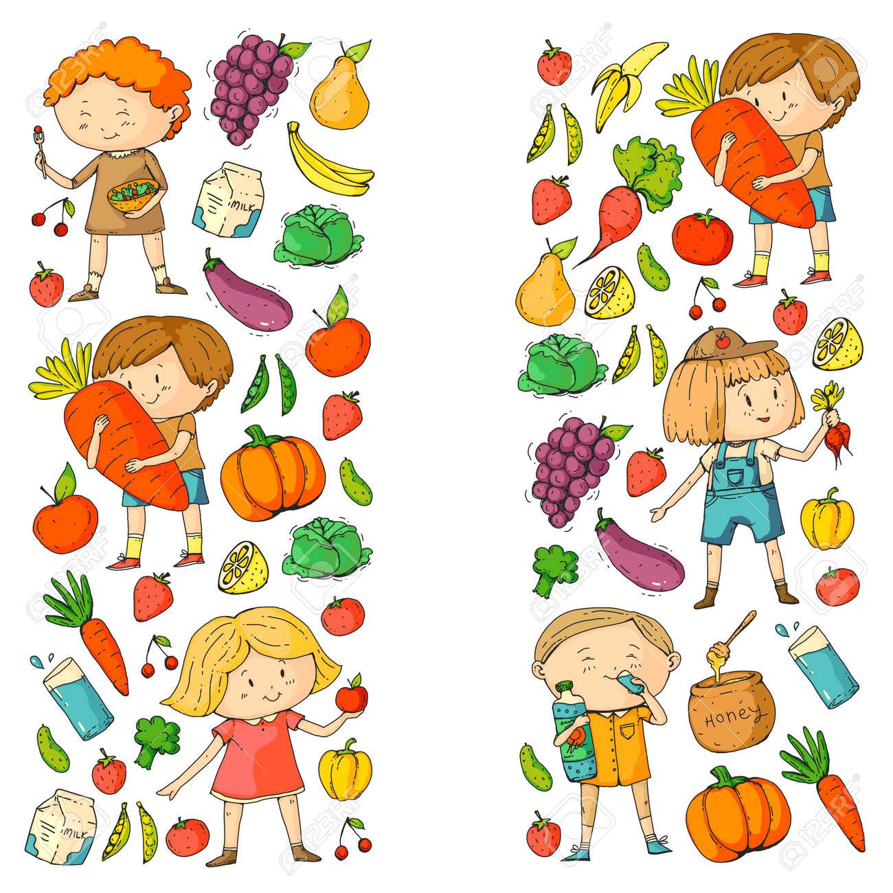 Criancas Escola E Jardim De Infancia Comida Saudavel E Bebidas