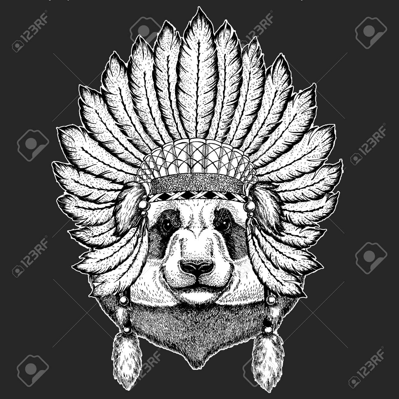 96d5d517b1051 Bear, bamboo bear. Traditional ethnic indian boho headdress Tribal shaman  hat Ceremonial element Stock