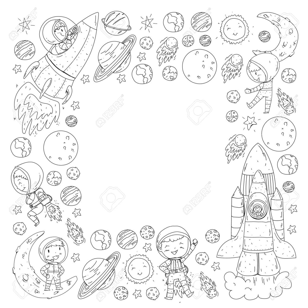 Earth Moon Sun Outline Clip Art at Clker.com - vector clip art ... | 1300x1300