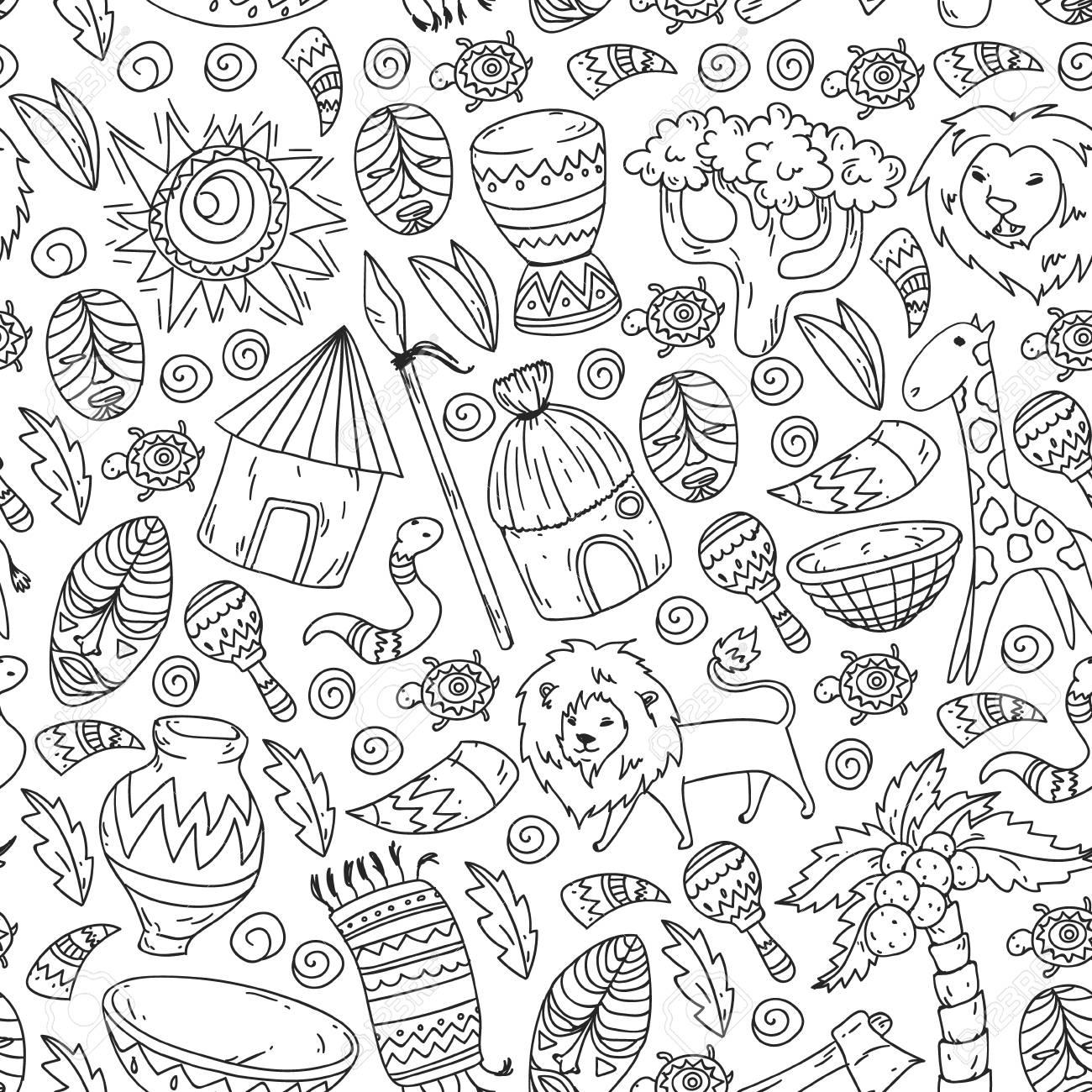 Vector Pattern Kids Fabric Textile Nursery Wallpaper African
