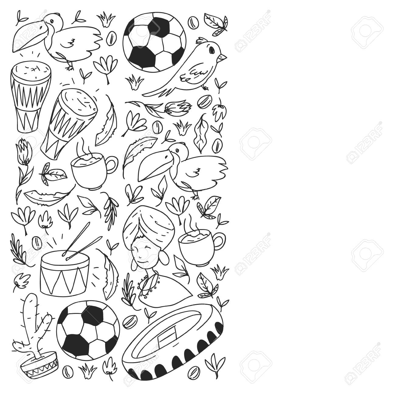 American Symbols Coloring Pages - GetColoringPages.com | 1300x1300