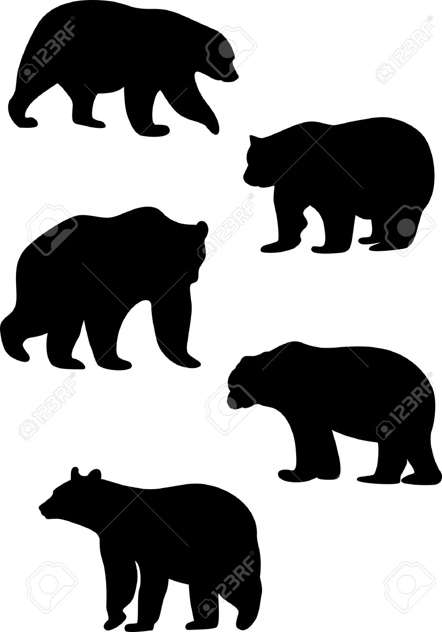 bear silhouette stock photos royalty free bear silhouette images  - bear silhouette silhouettes of bears