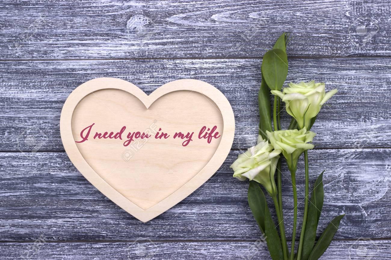 Tarjeta De San Valentín Con Texto Te Necesito En Mi Vida Amor Boda