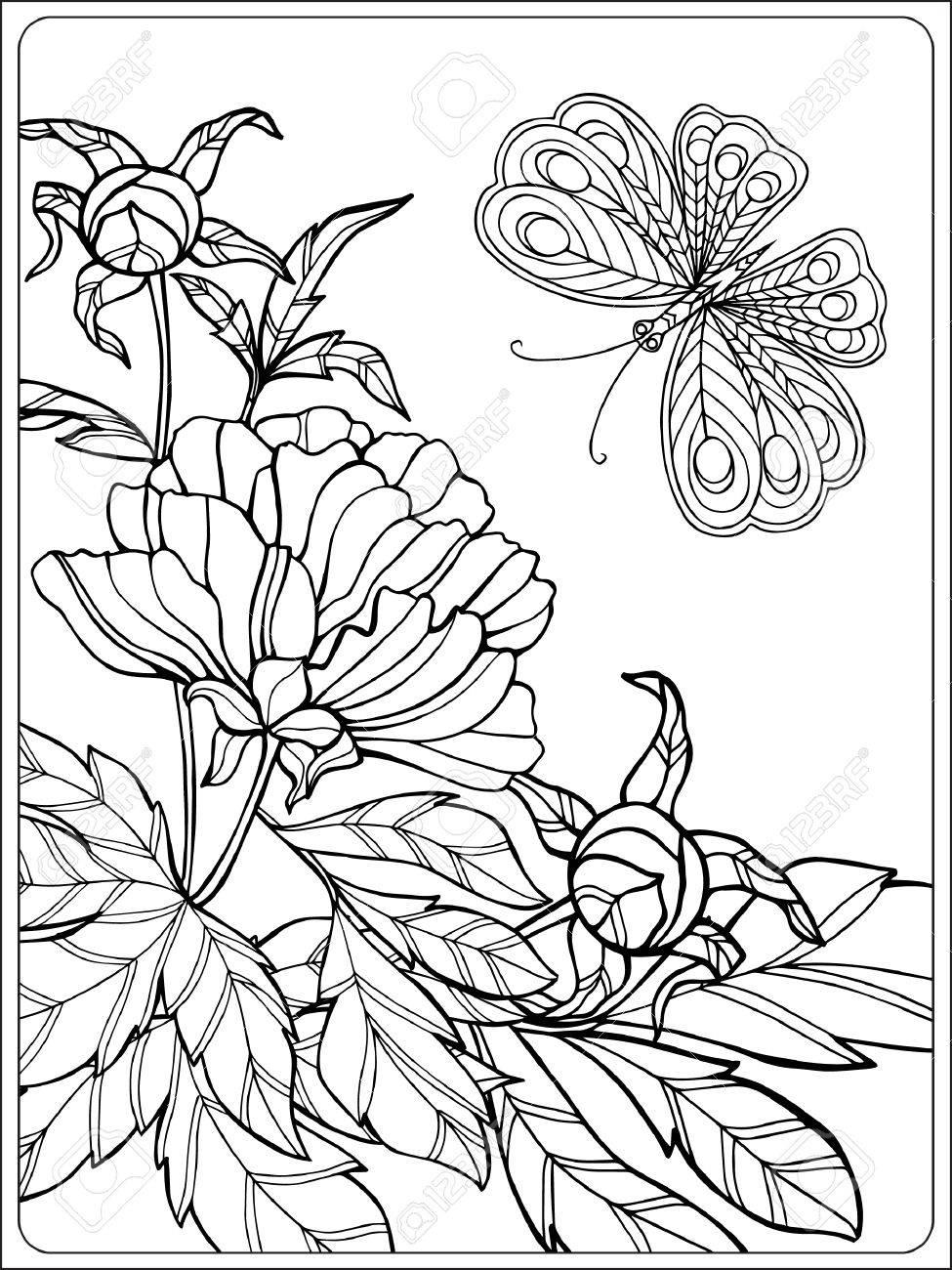 Ausmalbilder Schmetterlinge Blumen : Gro Z Gig Malvorlagen Von Blumen F R Ltere Kinder Ideen Framing