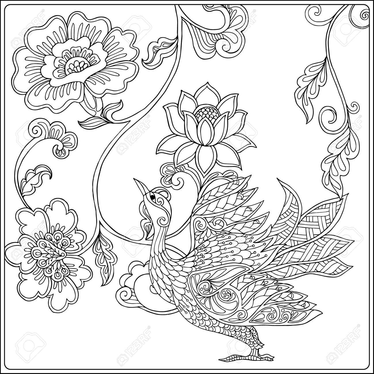 Atractivo Páginas Para Colorear De Flores Imprimibles Para Adultos ...