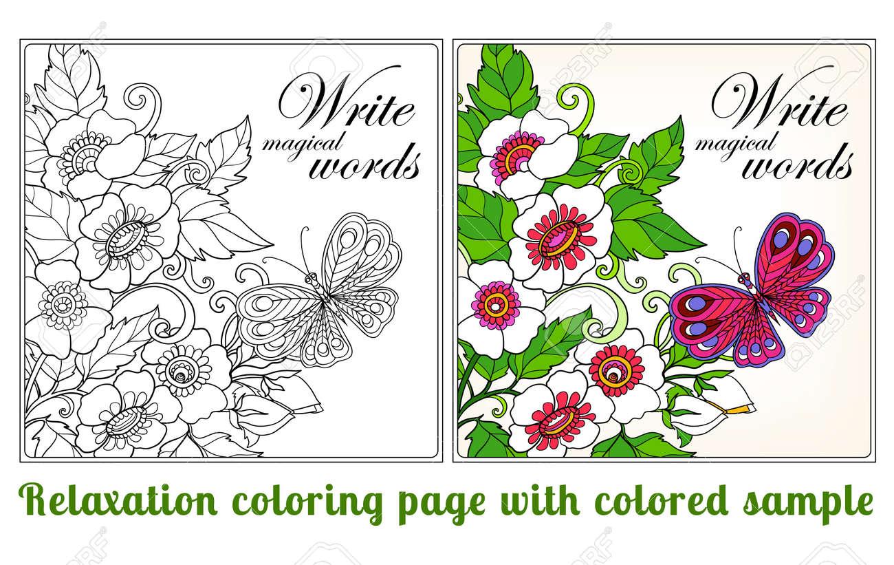 Moderno Colorante En Flores Regalo - Ideas Para Colorear ...