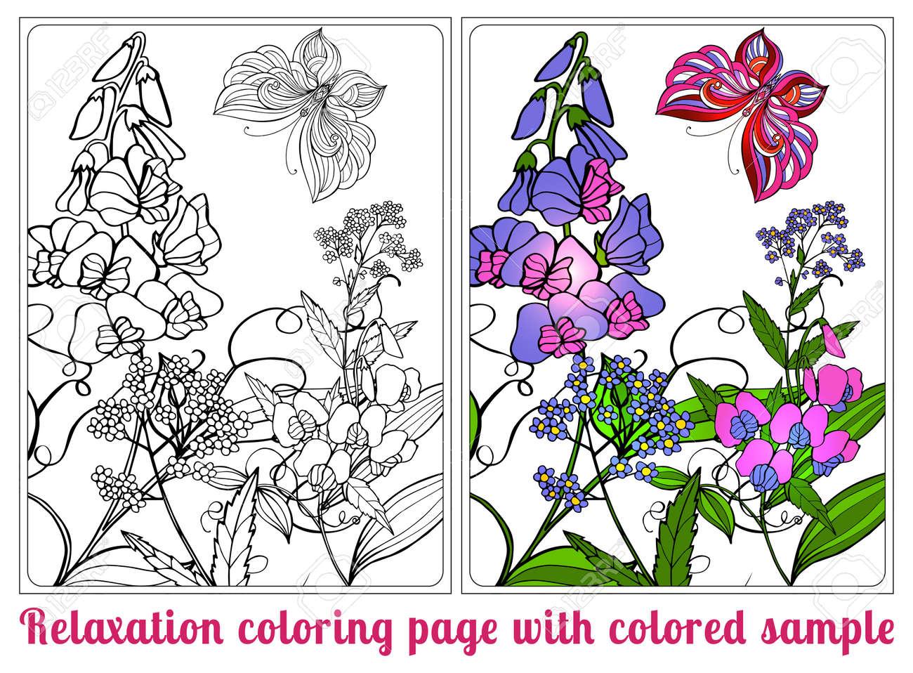 Atemberaubend Malvorlagen Blumen Und Vögel Fotos - Beispiel ...