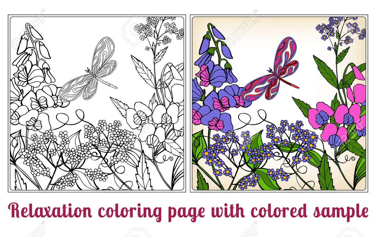 Famoso Colorante En Flores Ornamento - Dibujos Para Colorear En ...