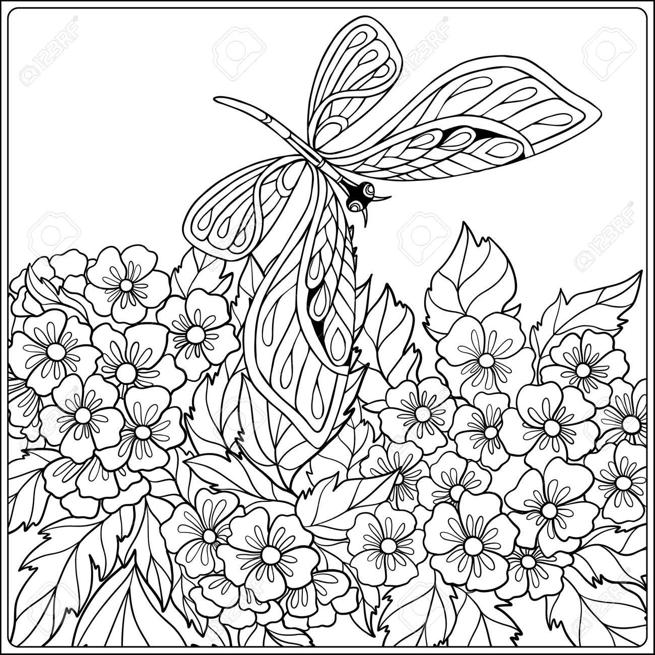 Erfreut Malvorlagen Schmetterlinge Und Blumen Zeitgenössisch - Entry ...