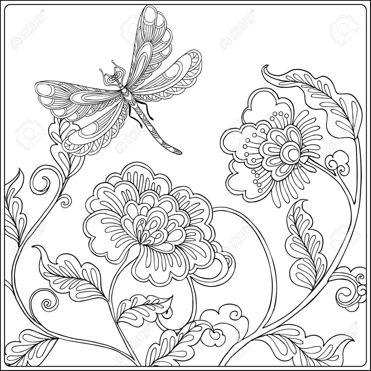 Disegni Da Colorare Per Adulti Fiori E Farfalle Coloratutto Website
