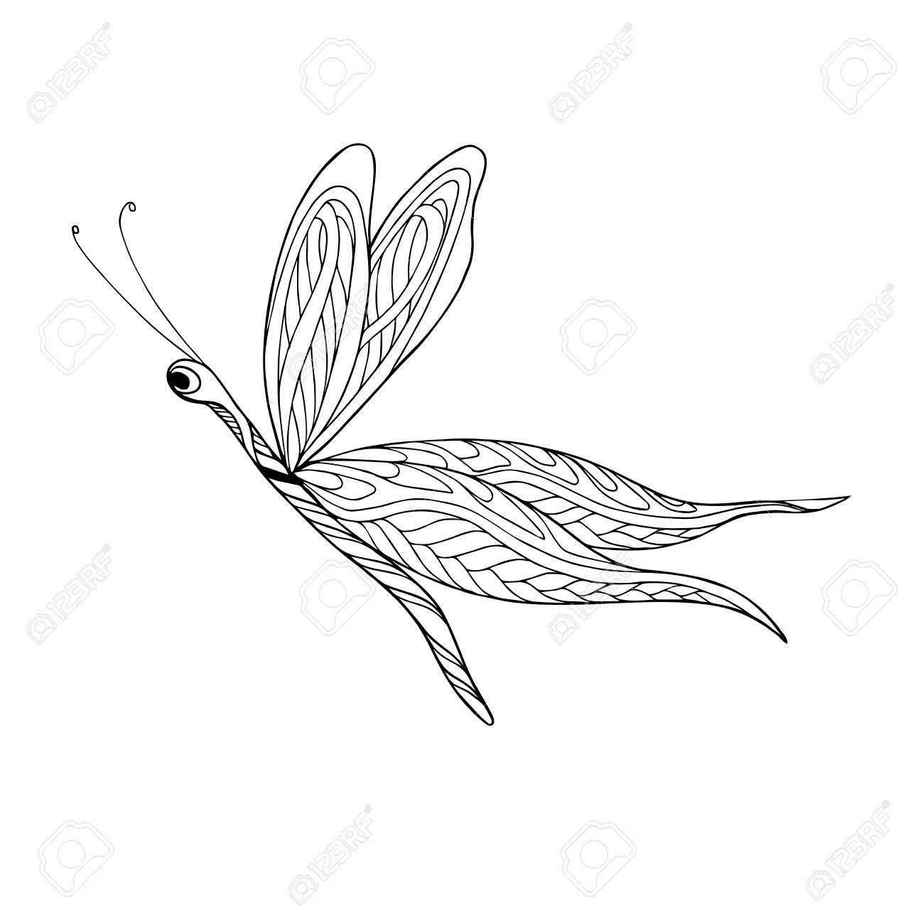 Dekorative Schmetterling. Malbuch Für Erwachsene Und ältere Kinder ...