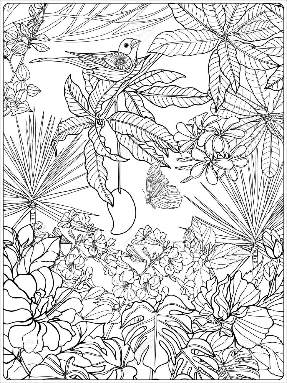 Contemporáneo Flores Silvestres Para Colorear Molde - Dibujos Para ...