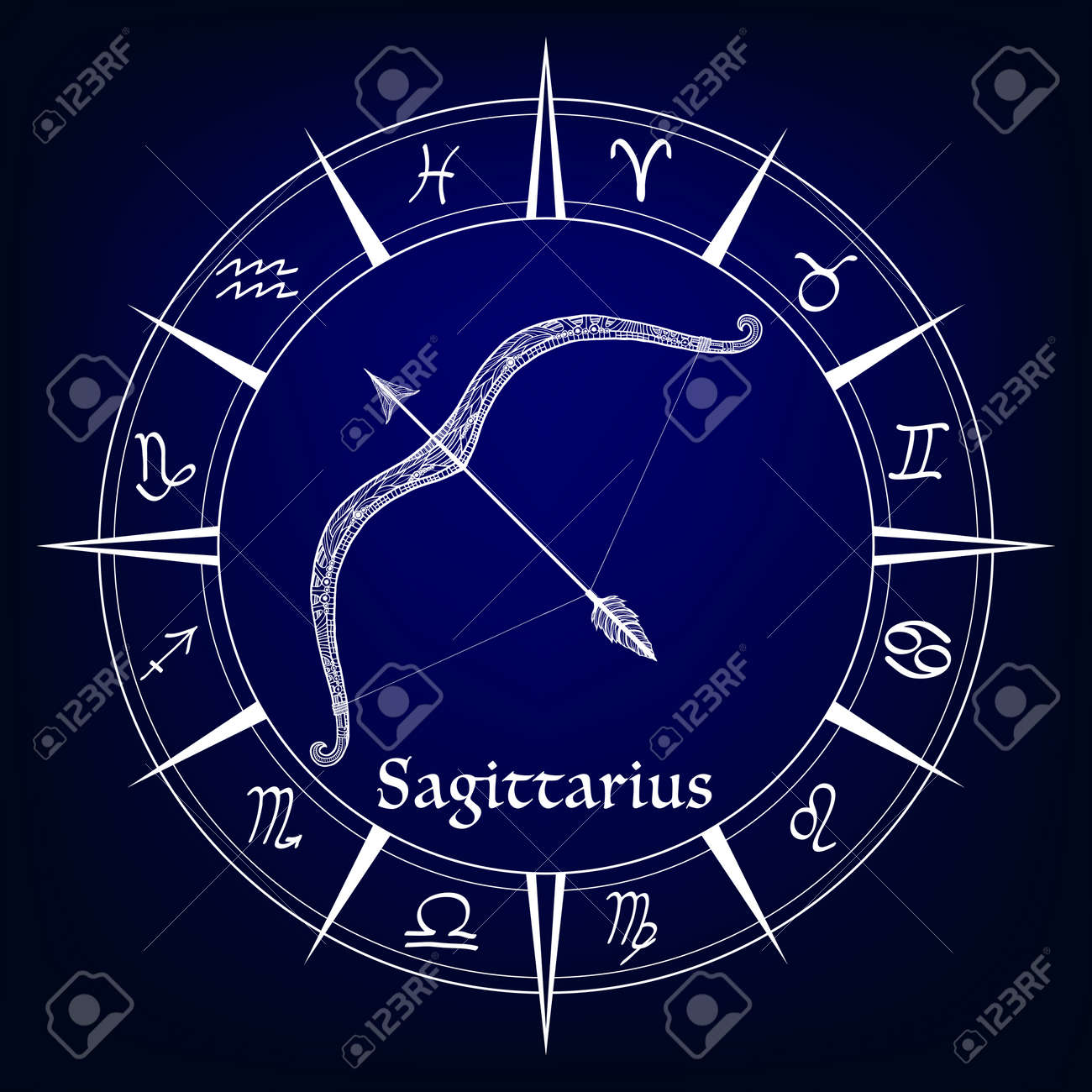 Zodiac Sign Sagittarius Stock Photo Picture And Royalty Free Image