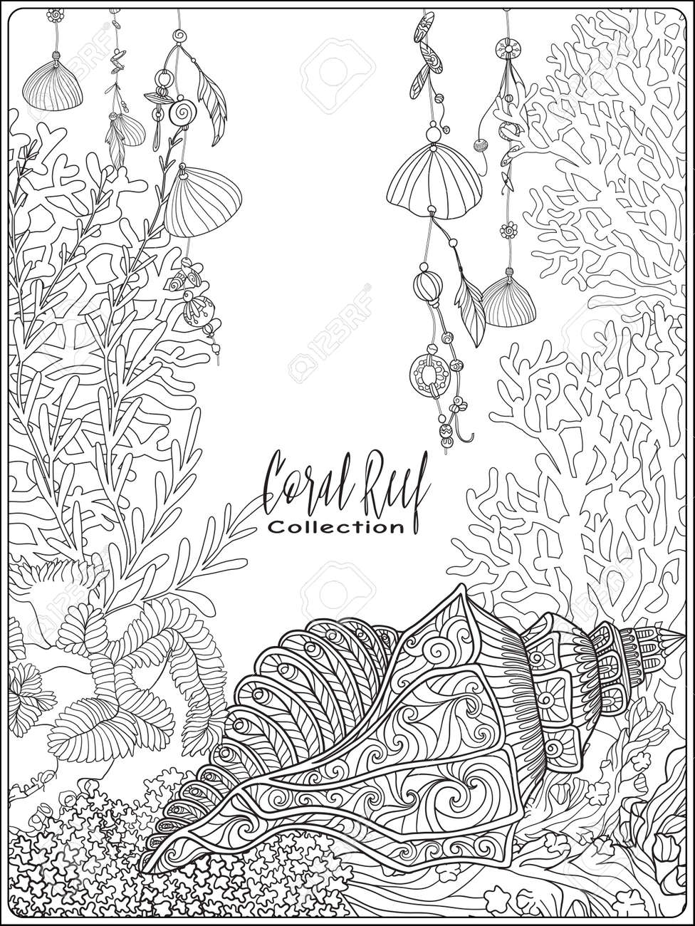 Lujoso Arrecifes De Coral Para Colorear E Imprimir Bosquejo ...