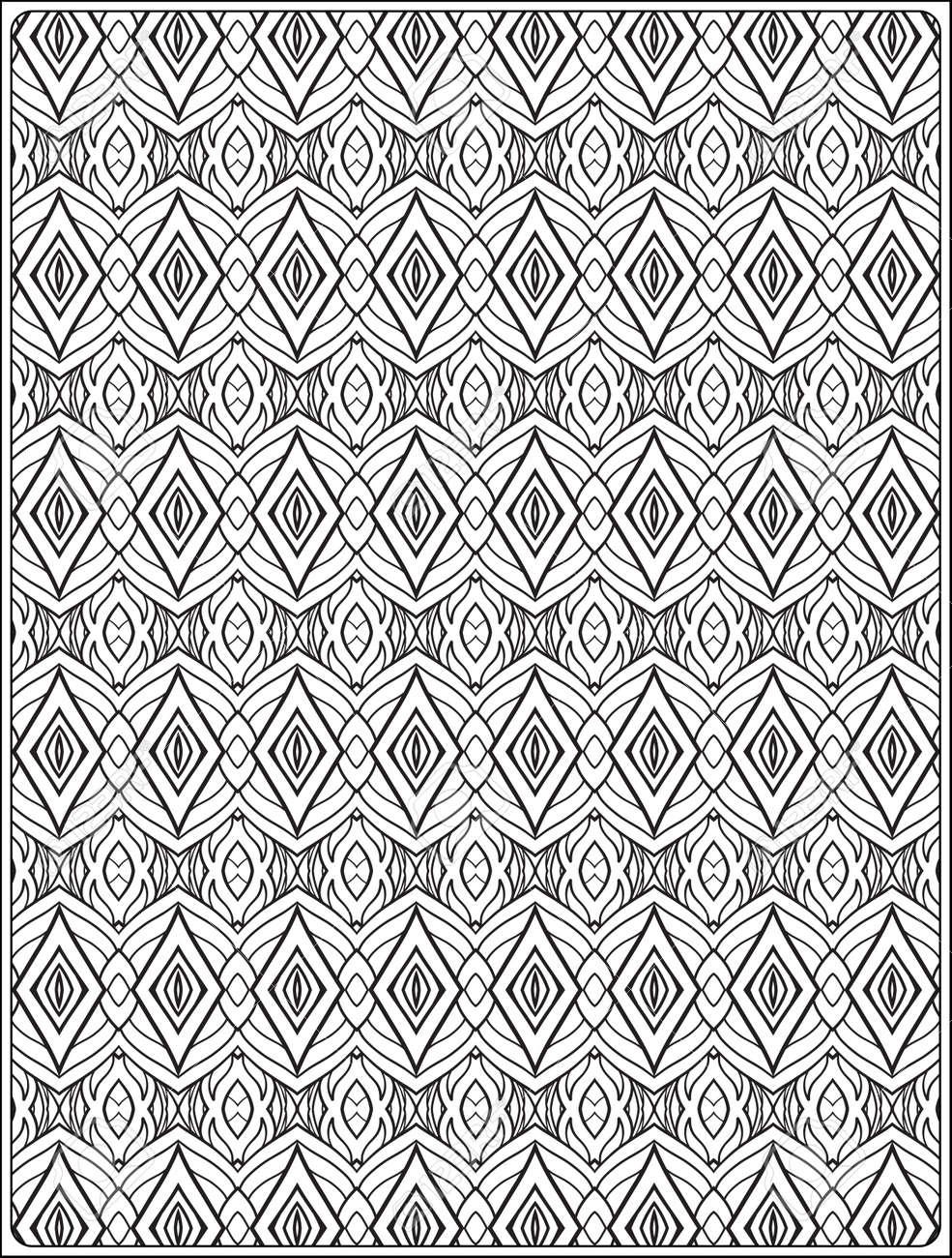 Ornamental Muster Anti-Stress Entspannung Malbuch Für Erwachsene Und ...