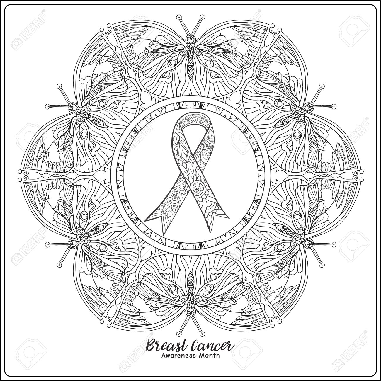 stunning breast cancer ribbon coloring page gallery printable