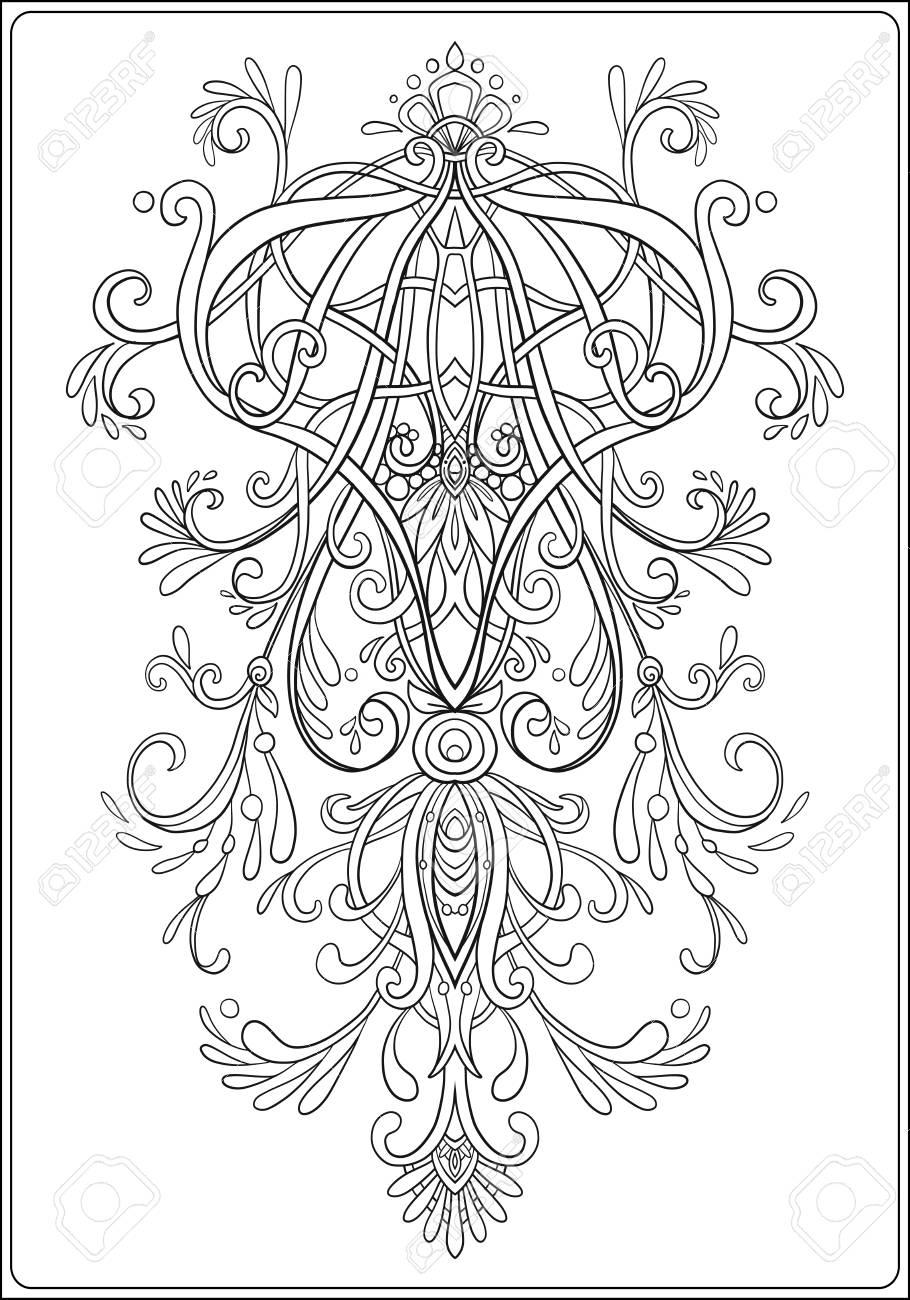 Elemento Floral Para El Diseno Ornamental En El Estilo Vintage