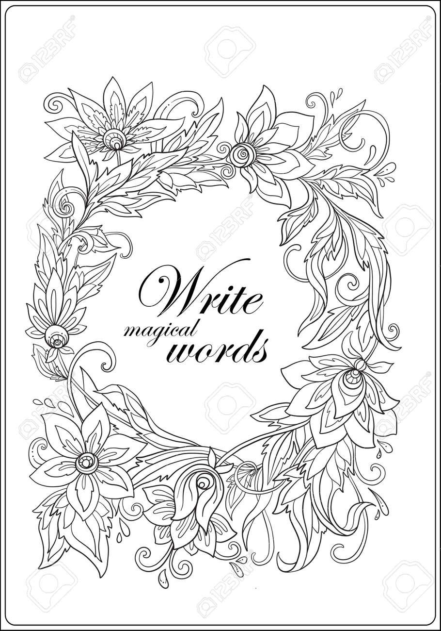 Livro De Colorir Anti Stress Para Adultos Esboce Desenho De