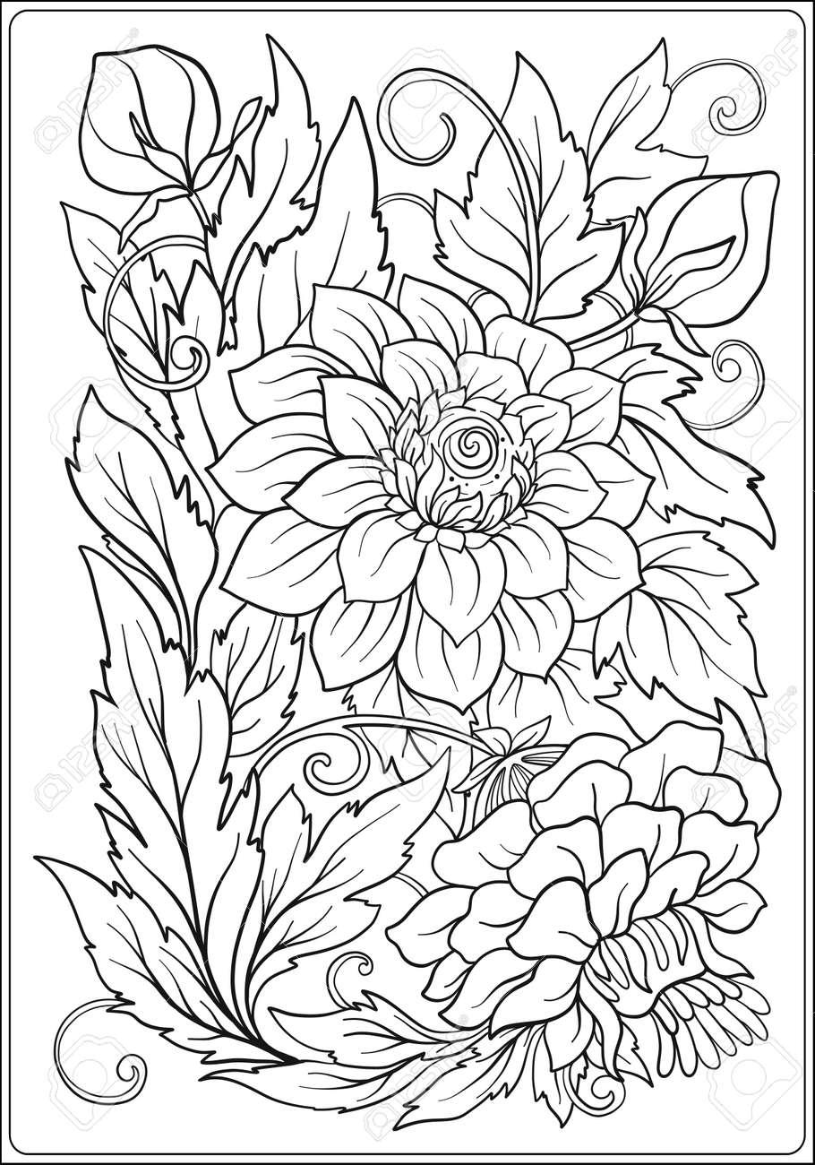Flores 35926 Flores Colorear Para Adultos