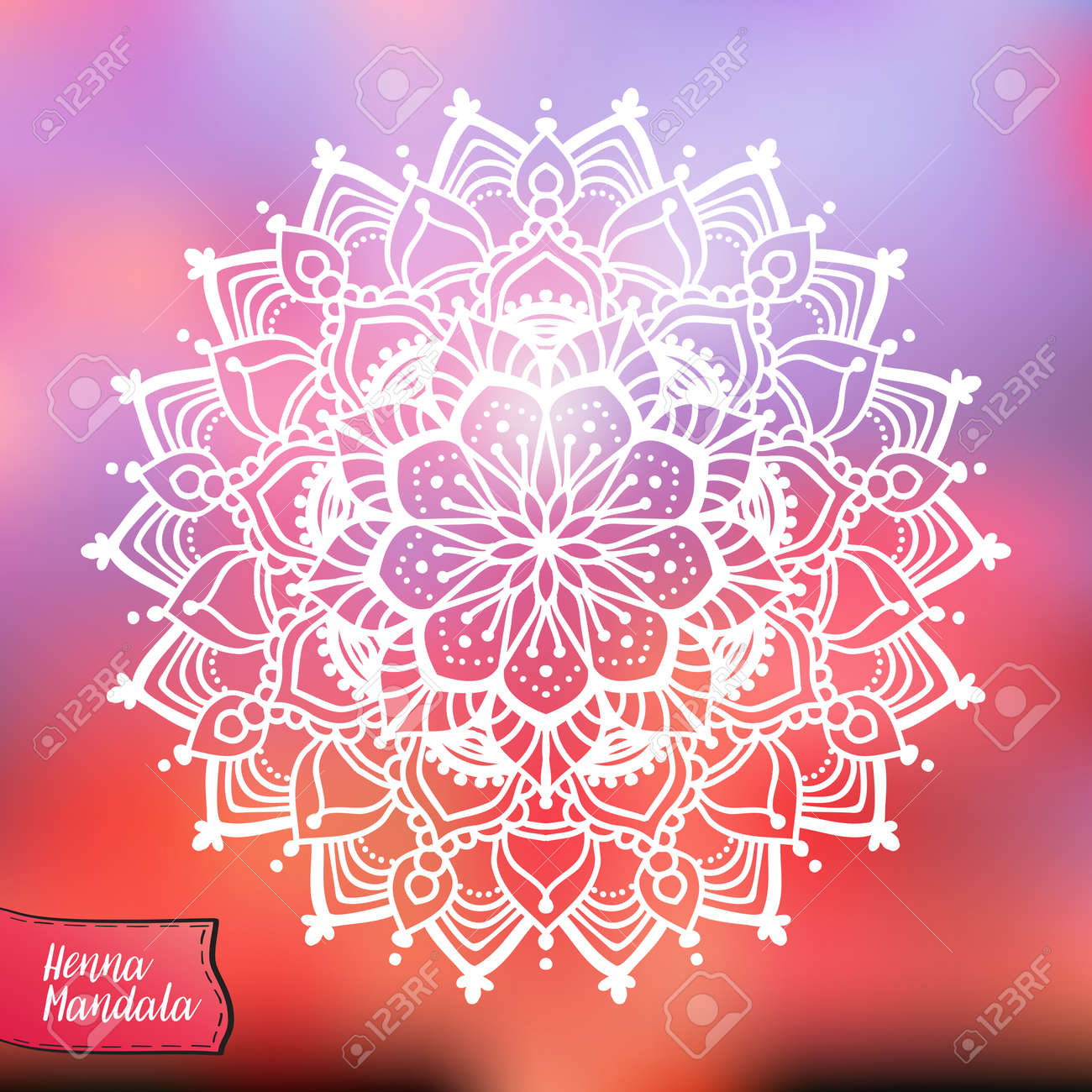 3cac111ebc93d Decorative indian henna mandala. This illustration can be used as a print  on T-