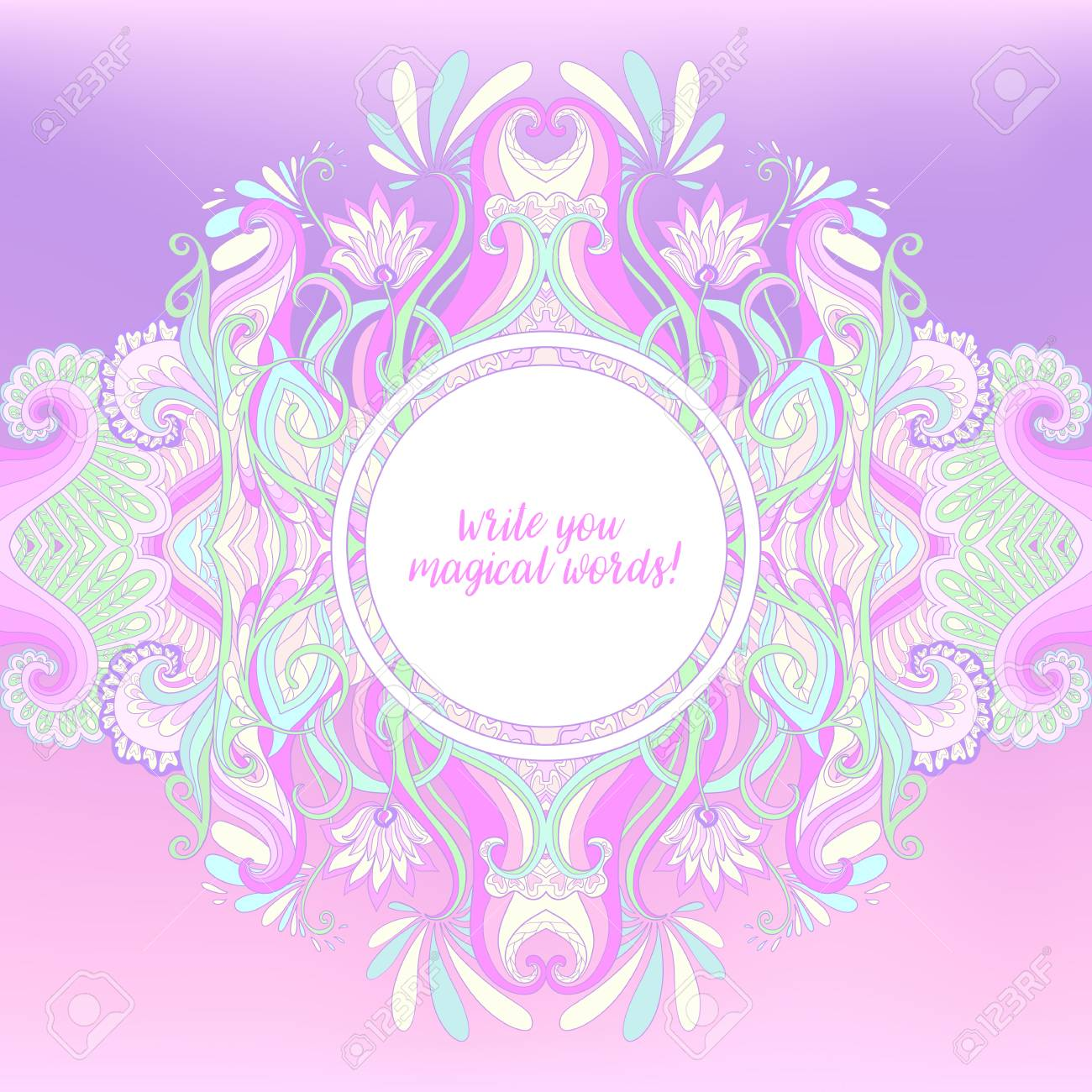 Invitación O Tarjetas De Felicitación Con Espacio Para Texto Hermosas Postales De Lujo En Colores Pastel Bueno Para Cumpleaños Invitación O Banner