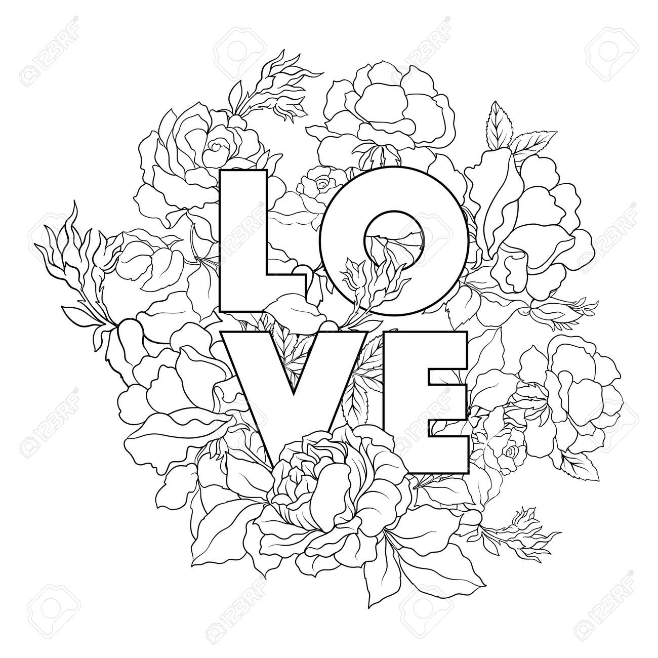 Ziemlich Blumen Malvorlagen Rose Bilder - Beispiel Business ...