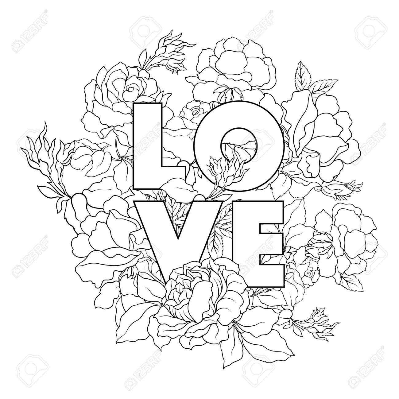 Ausmalbilder Blumen Für Erwachsene : Ungew Hnlich Rose Blume Malvorlagen Bilder Druckbare Malvorlagen