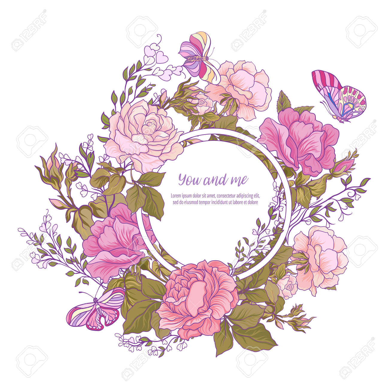 Rose Flower Background. Good For Greeting Card For Birthday ...