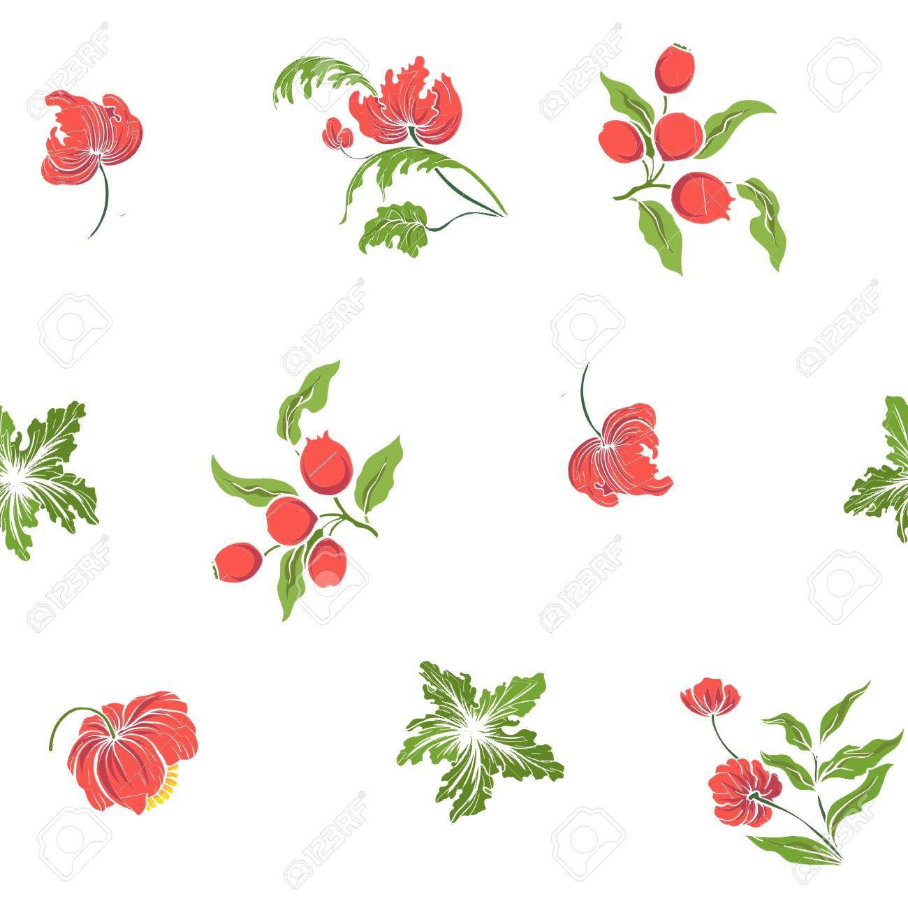 Patrón Transparente Con Flores Bordadas Vintage Ilustraciones ...