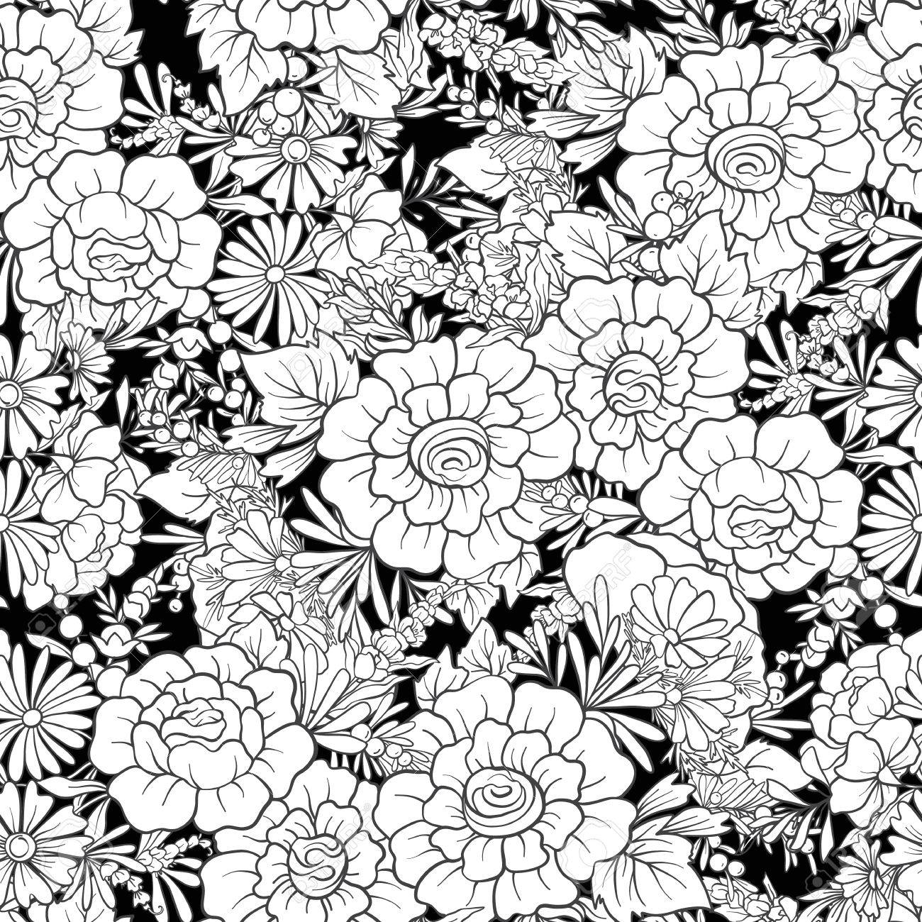 Floral seamless pattern - 81945717