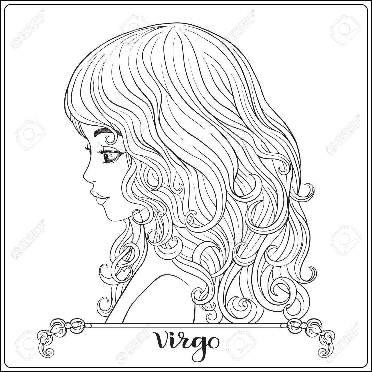 Virgo A Young Beautiful Girl In The Form Of One Of The Signs