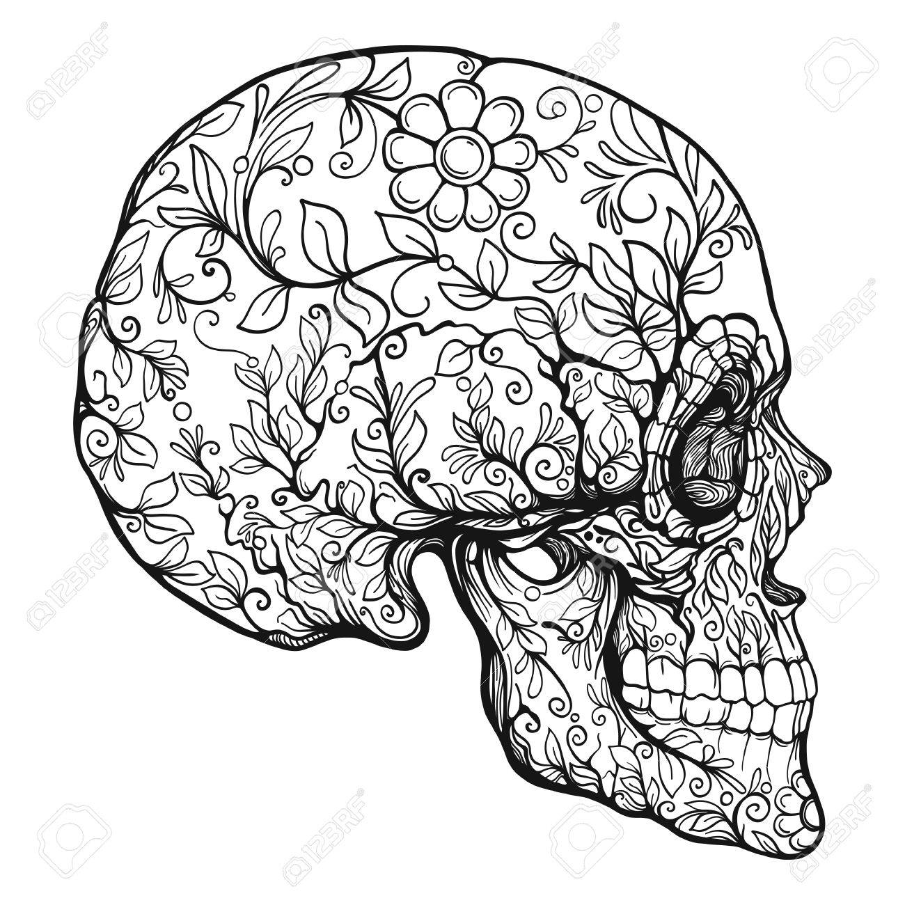 Sugar skull. The traditional symbol of the Day of the Dead. - 83191174