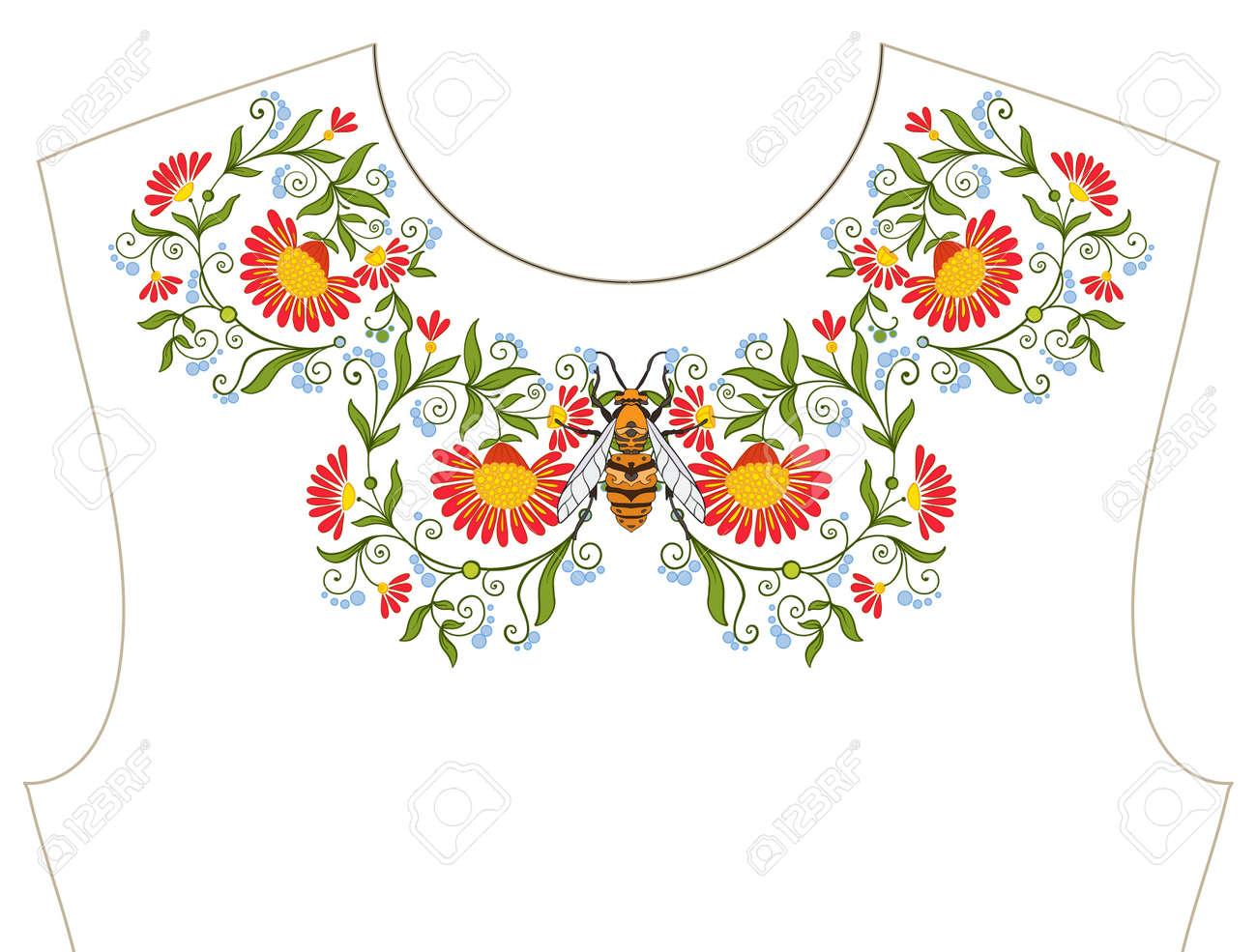 Bordado Para El Escote, Cuello Para La Camiseta, Blusa, Camisa ...