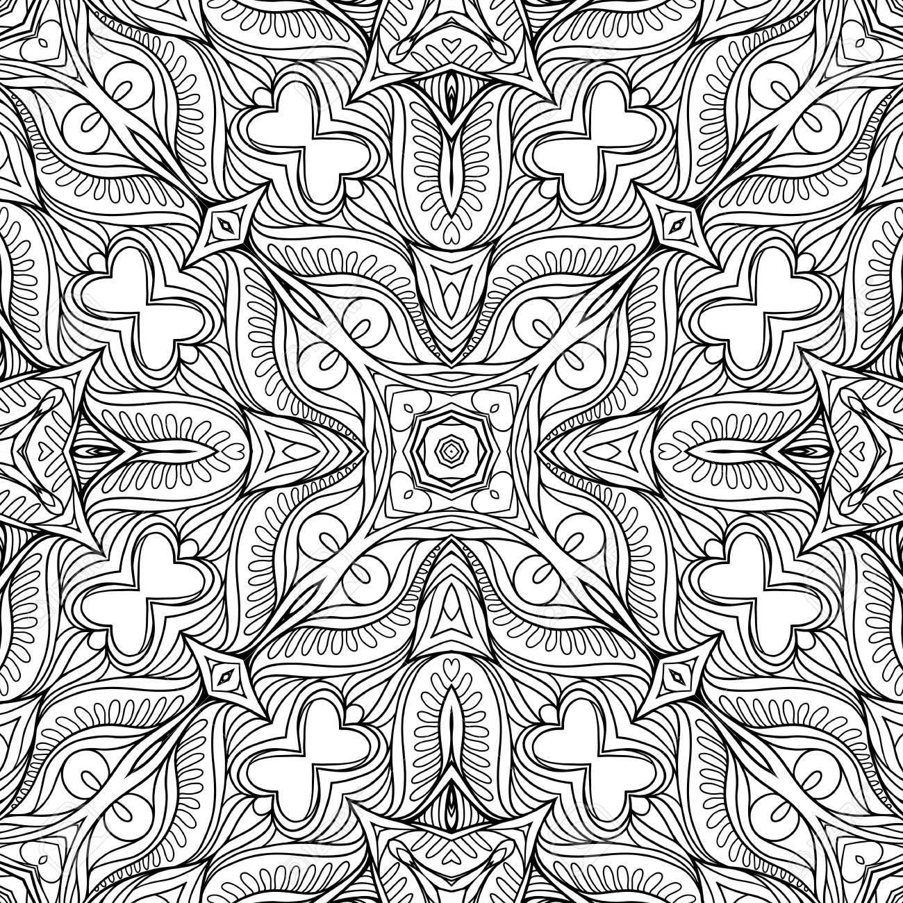 Padrao Sem Emenda Fundo Com Padrao Geometrico Abstrato Floral