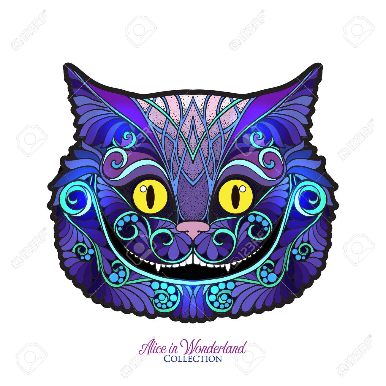 La Tete Du Chat Cheshire Du Conte De Fees Alice A Wonde Clip Art