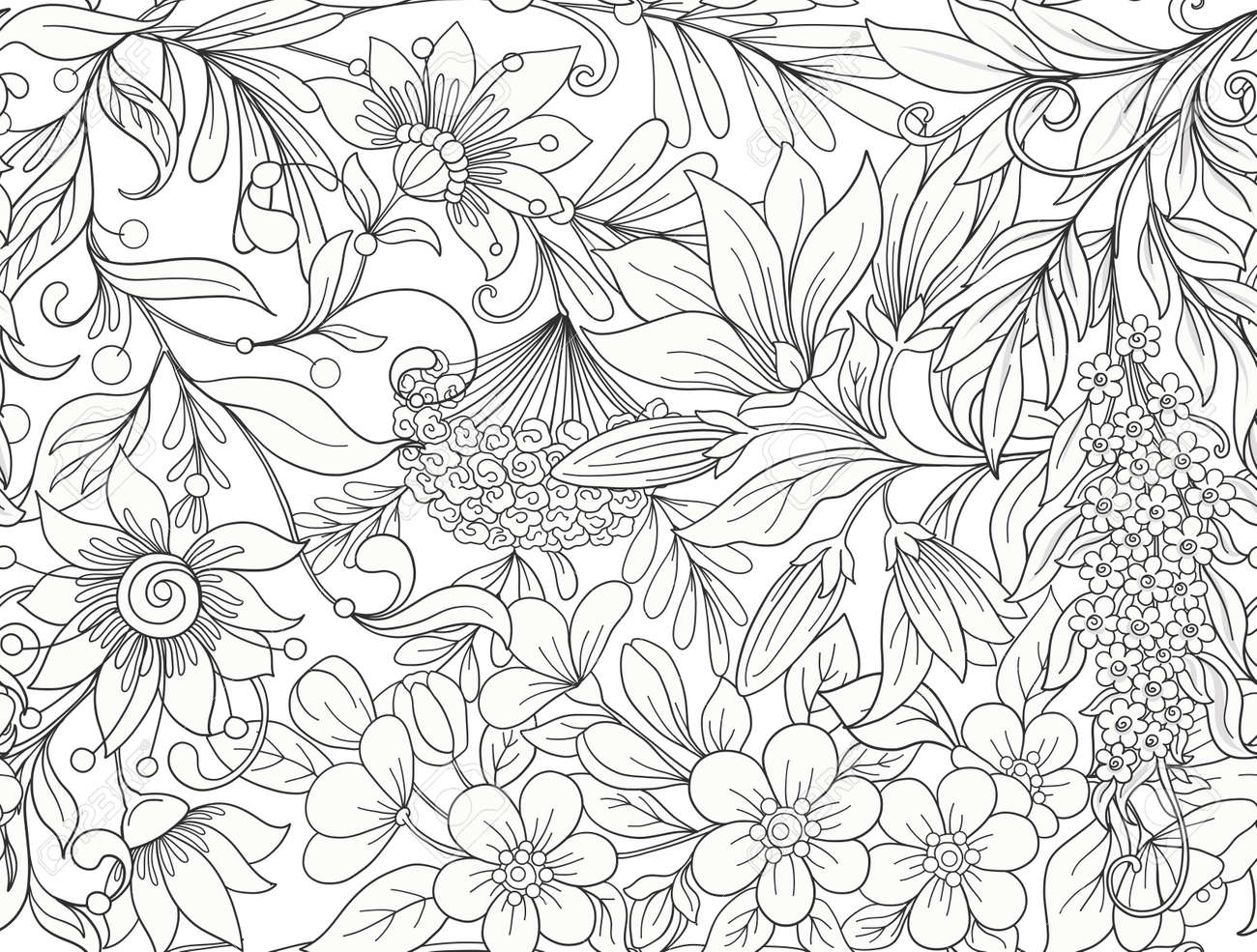 Seamless pattern, background with spring flowers magnolia, sak - 86152852