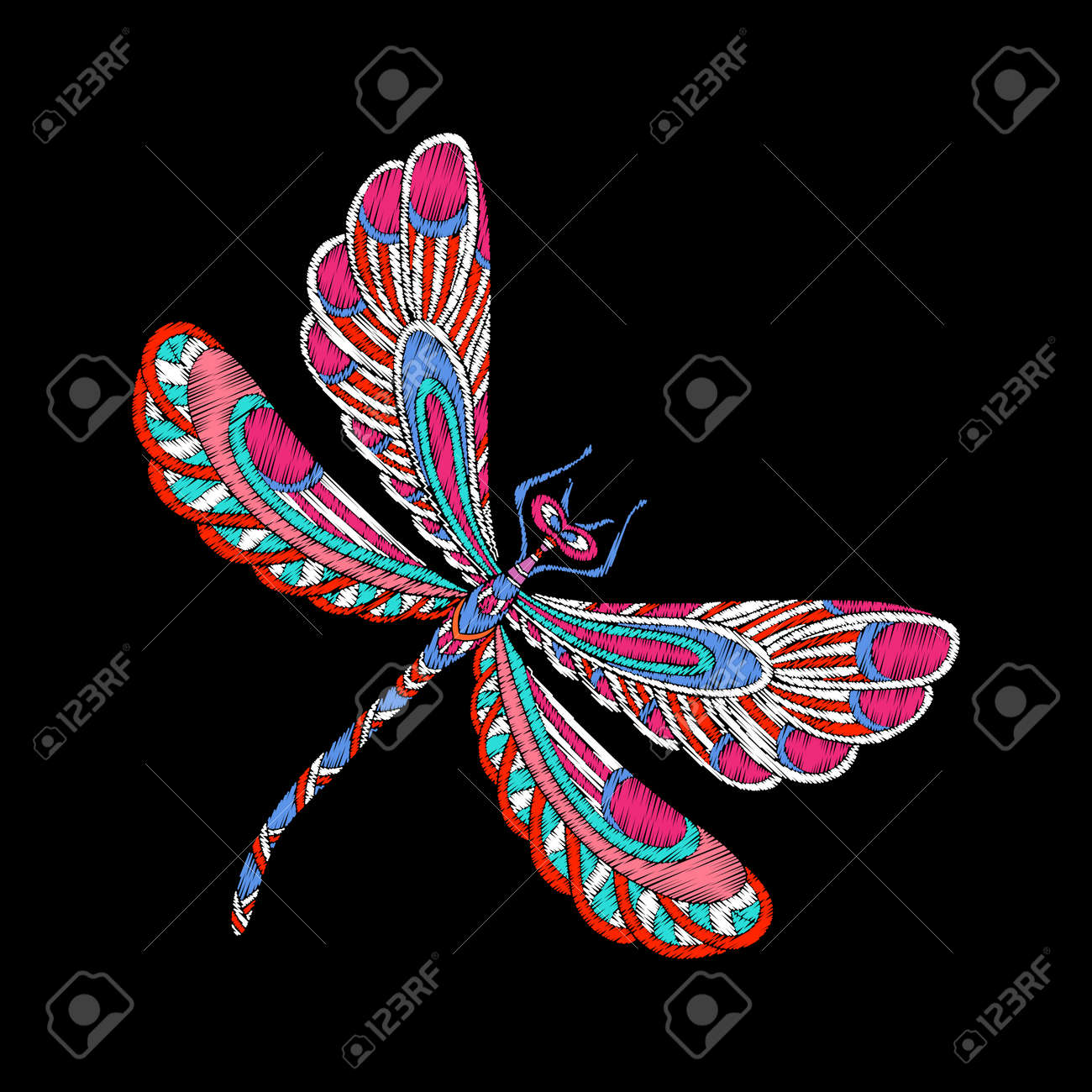 Embroidery Embroidered Design Element Butterfly In Vintage Royalty Free Cliparts Vectors And Stock Illustration Image 86311960