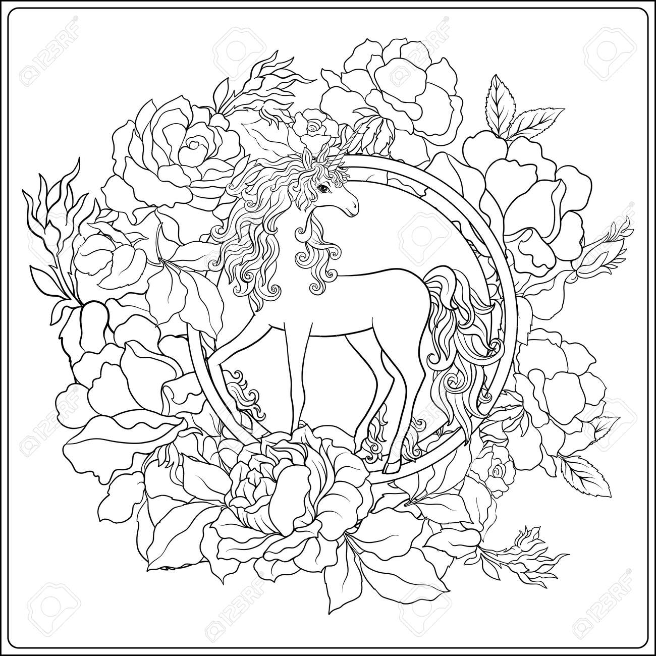 Perfecto Unicornio Miserable Para Colorear Inspiración - Enmarcado ...
