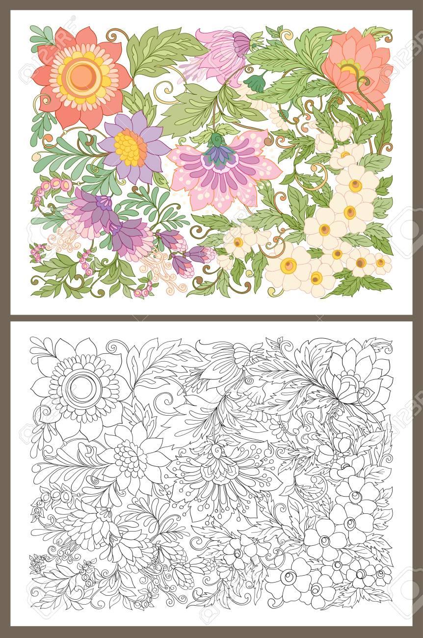Banner, Cartel, Fondo De Invitación Con Flores De Verano Decorativos ...
