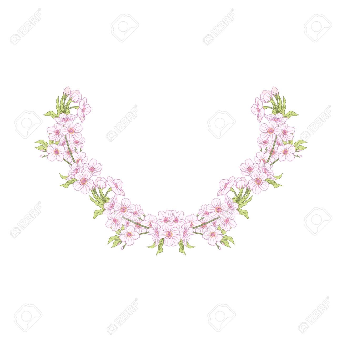 Desenhos De Bordado De Linha De Pescoco Com Um Padrao De Flores E
