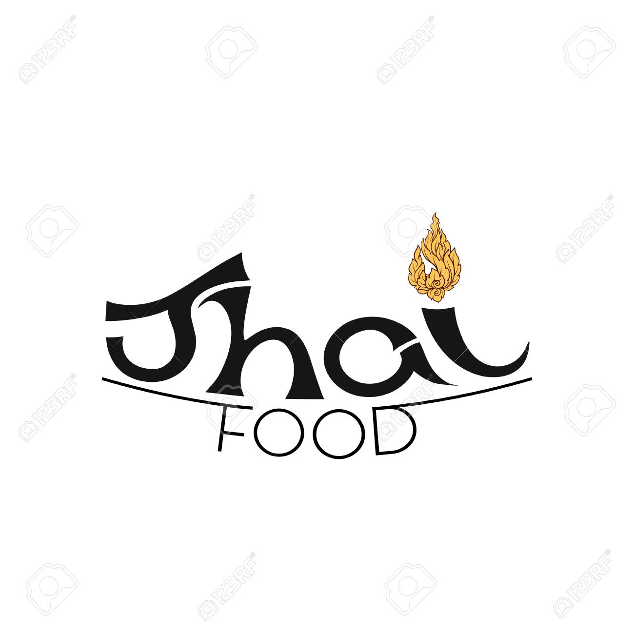 Logo For Thai Food Restaurantwith Traditional Thai Ornament Royalty Free Cliparts Vectors And Stock Illustration Image 106702562