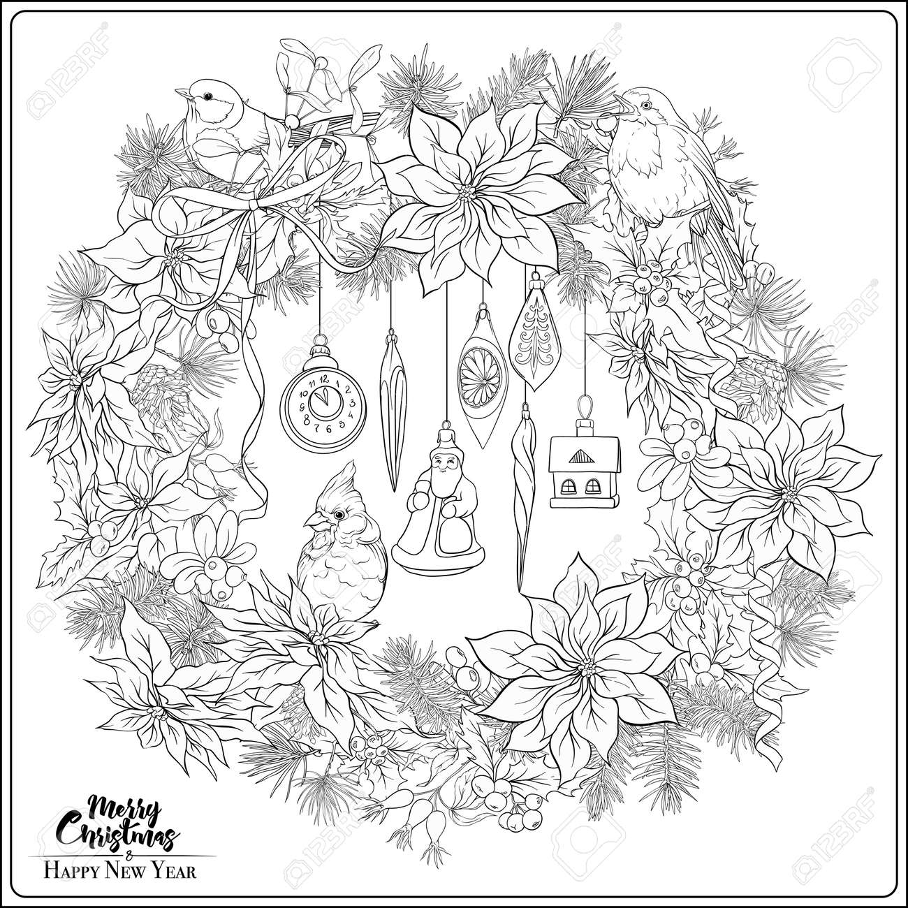 Free Printable Poinsettia Coloring Pages For Kids | 1300x1300