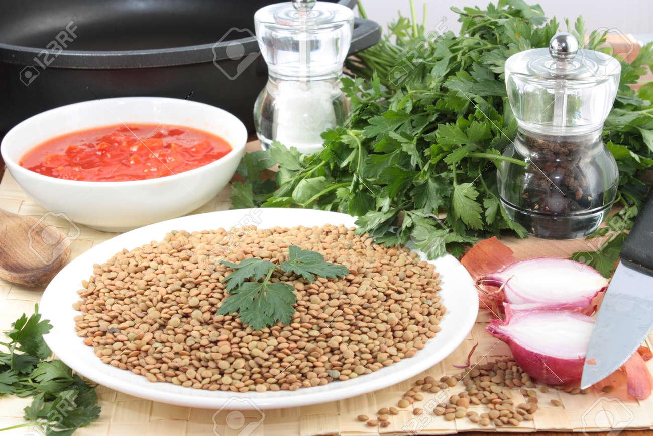 Ingredients for lentil soup Stock Photo - 10923481