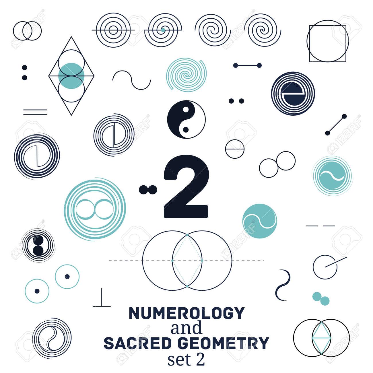 神聖な幾何学、数秘術のシンボル...