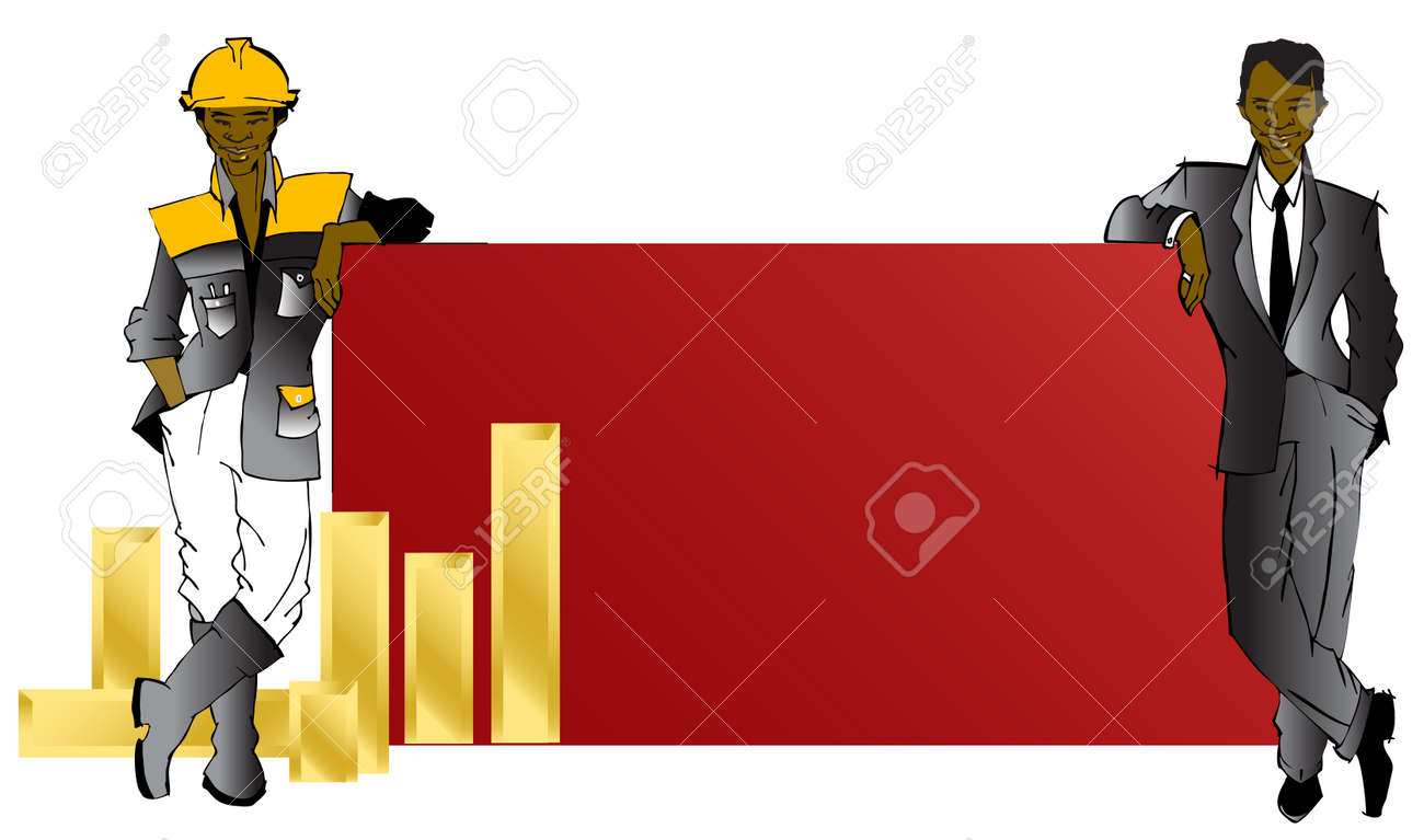job series - businessman and worker Stock Vector - 2226171