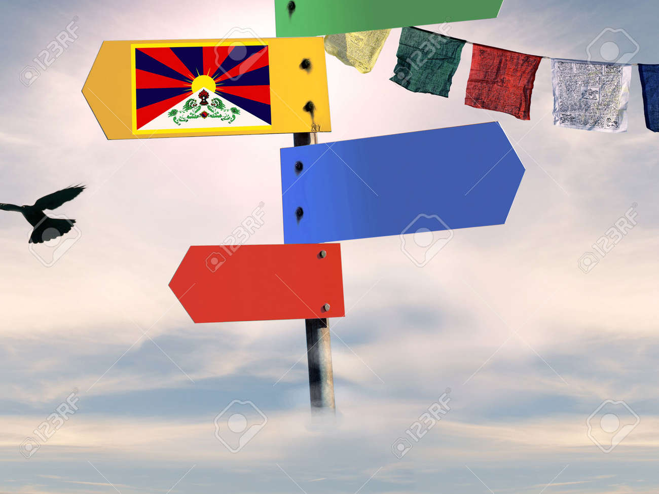 blank signal series - tibet Stock Photo - 2863787