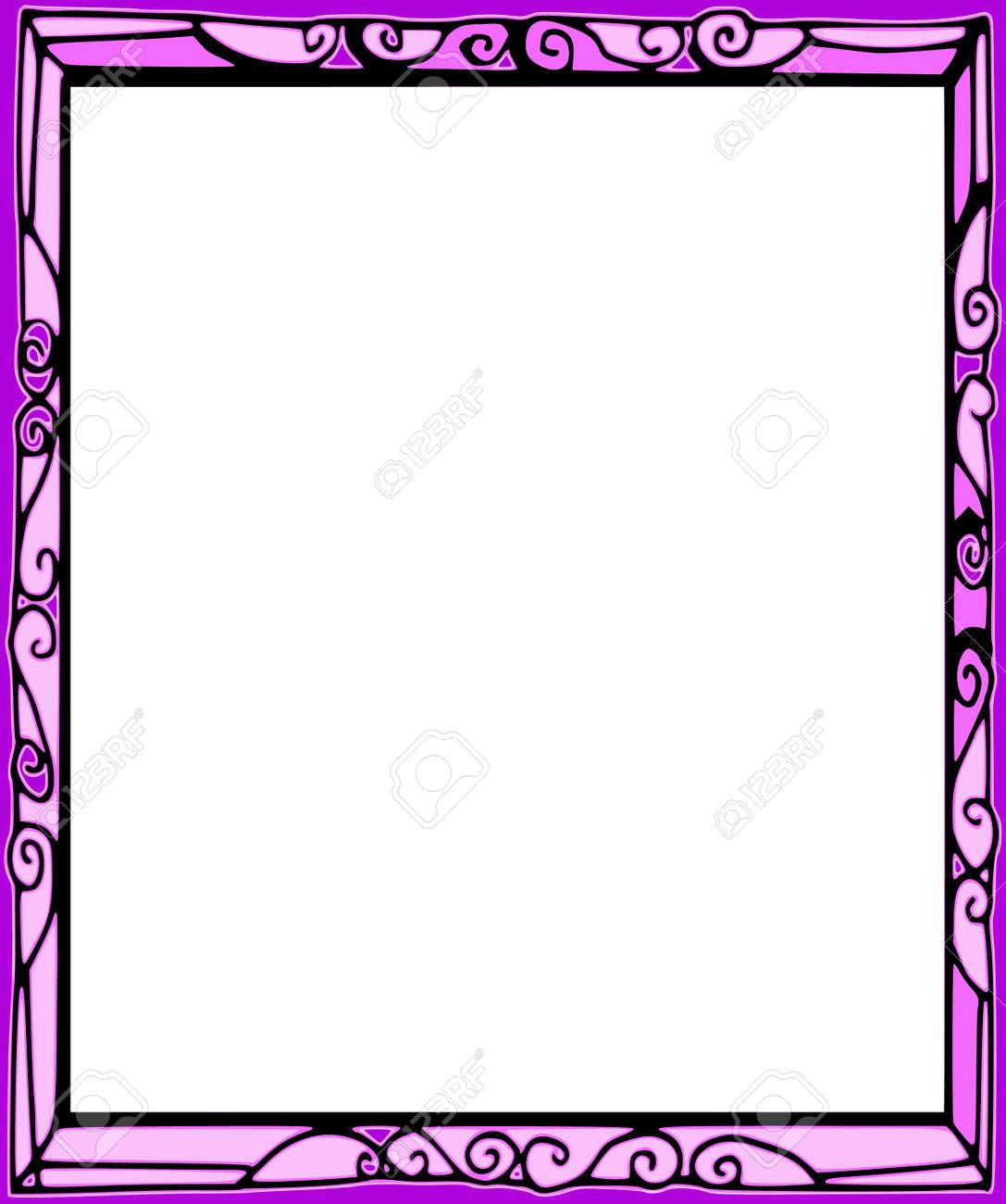 Background Series Hand Draw Frame Cartoon Style Stock Photo