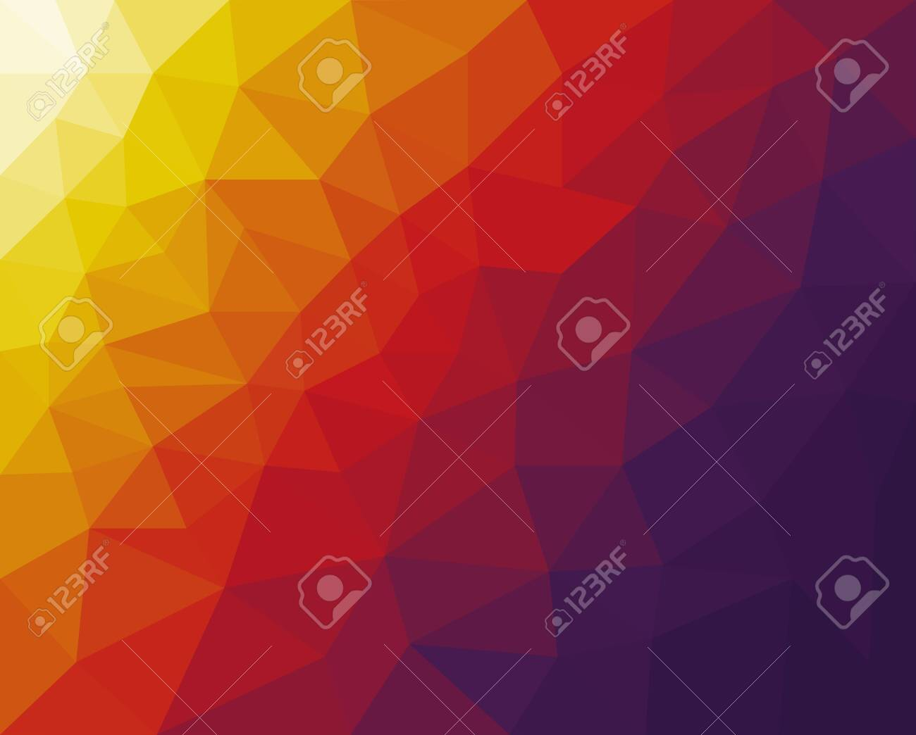 vector backdrop with lines, triangles. Modern abstract illustration with colorful triangles. Vector - 133435396
